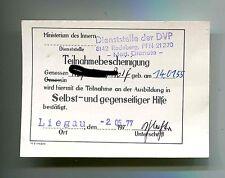 Volkspolizei  Ausweis   für Selbst und gegenseitige Hilfe  1977