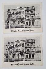 Vintage Postcard Olivier Guest House Hotel Lot of 2 New Orleans LA  Rlc