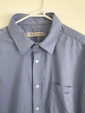 💎 R.M. WILLIAMS MENS Blue Pinstripe Textured Shirt Top Sz XXL