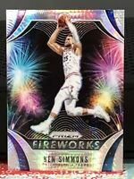BEN SIMMONS 2019-20 PANINI PRIZM  (FIREWORKS SILVER PRIZM) 76ers (REFRACTOR) #17