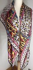 NEW Designer Inspired Silky Scarf Pashmina Oversized Leopard Softest Feel Multi