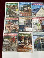 FINE HOMEBUILDING MAGAZINE LOT 13 ISSUES