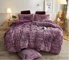 Xege Plush Shaggy 3Pc Duvet set Queen bedding ultra Soft.