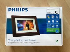 "PHILIPS 10.1"" Digital Picture Frame (Walnut Wood) **BRAND NEW**"
