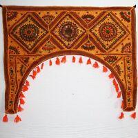 colgante de Puerta Toran thorang Patchwork 100cm Arco Medio Punto India Tápiz