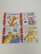 LOT (4) My First Story Reader Baby Einstein Let's Play Let's Rhyme Let's Listen