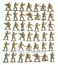 40 pcs Military Plastic Toy Soldiers Army Men Tan 6cm Figures