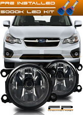For 2012-2015 Subaru Impreza XV Crosstrek Fog Light Clear Complete Kit + LED Kit