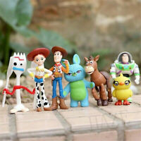 7pcs/set Toy Story 4 Woody Lightyear Rex Alien Bear Figure Cake Topper Toy Hot