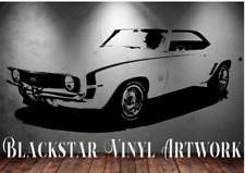 "1969 CHEVROLET CAMARO SS LARGE DECAL WALL ART 23"" X 48"""