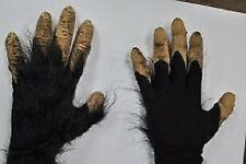 HALLOWEEN ADULT CHIMP MONKEY APE  HANDS  MASK PROP