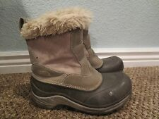 NORTH FACE WINTER BOOTS 400 GRAM Insulation Youth Girls Size 6 BROWN & PINK