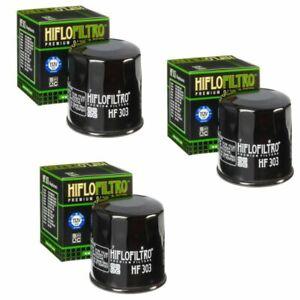 Hiflofiltro Oil Filter 3 Pack For Motorcycles Honda Kawasaki Yamaha Polaris