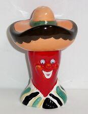 CHILI PEPPER SALT and PEPPER Señor Sombrero Googly Eyes Vintage Vandor 1991 NOS