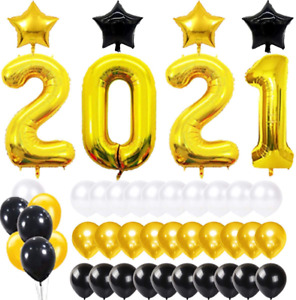 Graduation Decorations 2021, 2021 Class of Prom Party, 40inch Gold Foil 2021 Bal