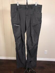 KUIU Gray Tiburon Hunt Stretch Toray Fabrics Hike Camp Outdoor Pants Sz 38x34