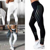 Women Waist Yoga Fitness Leggings Running Gym Stretch Sports Pants Trousers A6