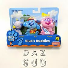 2000 Blues Clues Buddies BLUE, PERIWINKLE, MAGENTA Vintage Fisher Price NEW