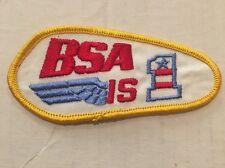 Vintage Patch NOS BSA Is # 1 Motorcycles Biker 70s Rat Hot Rod Bobber Cafe