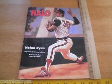 1992 HALO California Angels Nolan Ryan Hall of Fame Inductee issue scorebook