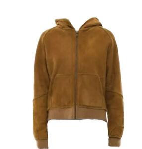 Ugg Suede Bomber Jacket w/Faux Fur Size M