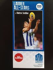 2015 Ladder AFL All Star Card Andrew Swallow North Melbourne Kangaroos