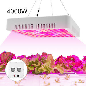 4000W LED Grow Light Hydroponic Full Spectrum Indoor Flower Plant Lamp Panel UK