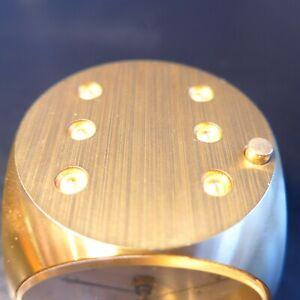 Interess. Wehrle Tavolo Sveglia, Montato I.e. Massiccia Metallwürfel, Bel Sparks