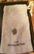 Alexis Bittar Signed Single VIntage Drop Dangle Lucite Crystal Earring + Pouch