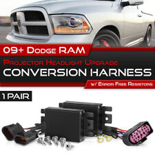 09-18 RAM 1500 2500 3500 Non-Projector Headlight Lamp Upgrade Wiring Harness SET