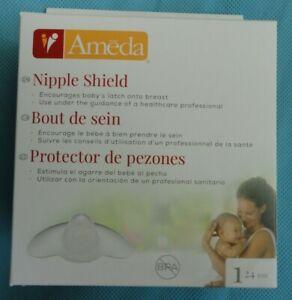 New! AMEDA Skin to Skin NIPPLE SHIELD Breast FEEDING x1 SILICONE 24 MM contact