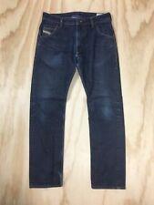 Diesel Krooley Regular Slim Carrot Men's 32 x 31 Zip Up Blue Denim Jeans