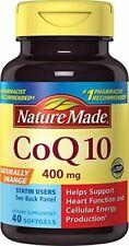 Nature Made Maximum Strength CoQ10, 400 mg,  Softgels - 40 Ct   //  NEW & SEALED