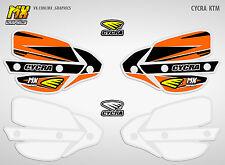 Stickers Decals for Cycra Probend Handguards KTM SX SXF EXC 125 250 450 Orange