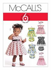 Mccall's Pattern Infants' Lined Dresses Panties and Headband All Sizes in 1 En