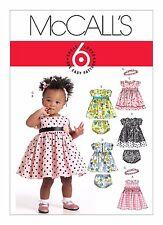 McCall' sewing Pattern M5791 SZ S-XL Infants Babies Dresses Panties Headband