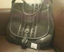 BELSTAFF Black suede Denton Bag 💟 RRP £746 BNWT 💟 Authentic Original 💟 UK 💟