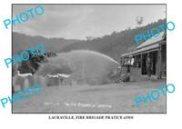 6x4 PHOTO OF OLD LAURAVILLE FIRE BRIGADE c1910 VIC