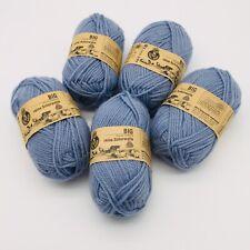 5 skeins Reine Schurwolle BIG - Superwash Virgin Wool - Blue Gray