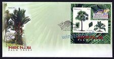 2009 Malaysia Palm Trees Mini-Sheet (PhilaKorea Overprint) FDC Exhibition Cachet