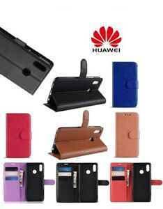 New 2019 360 PU Genuine Leather Wallet HUAWEI Case Cover FOR P SMART, 2019, PLUS