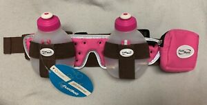 FUEL BELT Helium Two 8oz Bottle Hydration 1-size-Fit-All Pink & Brown Waist Pack