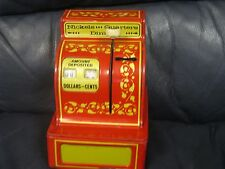 VINTAGE BUDDY L EASY SAVER BANKS COIN BANK IN RED AND YELLOW