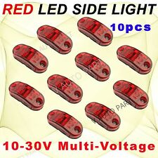 10X Red Side Light LED Marker for Trailer Truck Turn ABS Clearance Lamp DOT SAE