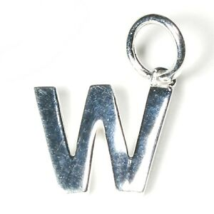 Silver Initial 'W'  Charm/Pendant