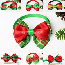 Cute Christmas Pet Dog Cat Bowknot Bow Ties Adjustable Tie Collar for Xmas Decor