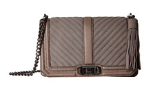 Rebecca Minkoff Handbag Love Quilted Chevron Leather Crossbody Bag NEW Dust $295