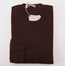 NWT $995 CRUCIANI Chocolate Brown 100% Cashmere Crewneck Sweater Eu 50 (M) Italy