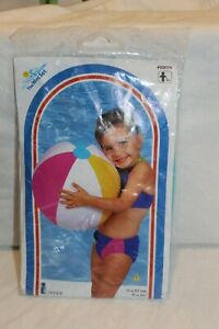 """Intex #59020 New vintage 1999 20"""" Beach Ball unopened Package inflatable Toy"""