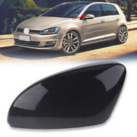 Black Left Side Wing Rear View Mirror Cover Cap For VW Golf MK6 GTI R32 2010-13